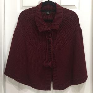 Twenty One Sweater Cape (Burgundy)